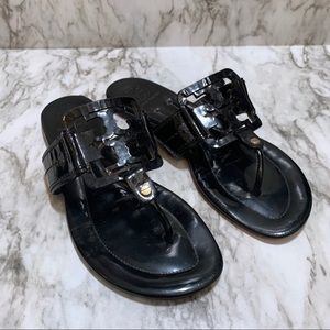 Tory Burch | Patent Leather Miller Flip Flops